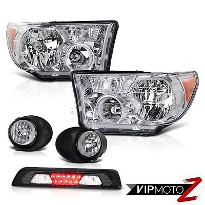 2007-2013 Toyota Tundra SR5 Euro Clear Headlights Foglamps 3RD Brake Light LED