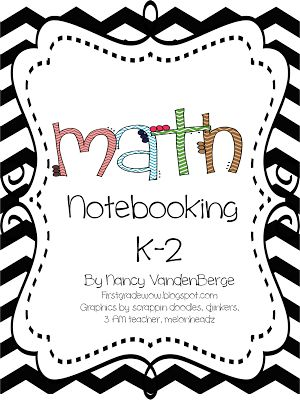 Here's a terrific packet of materials for setting up math notebooks in K-2. Includes vocabulary, calendar pages, number of the day, and more!
