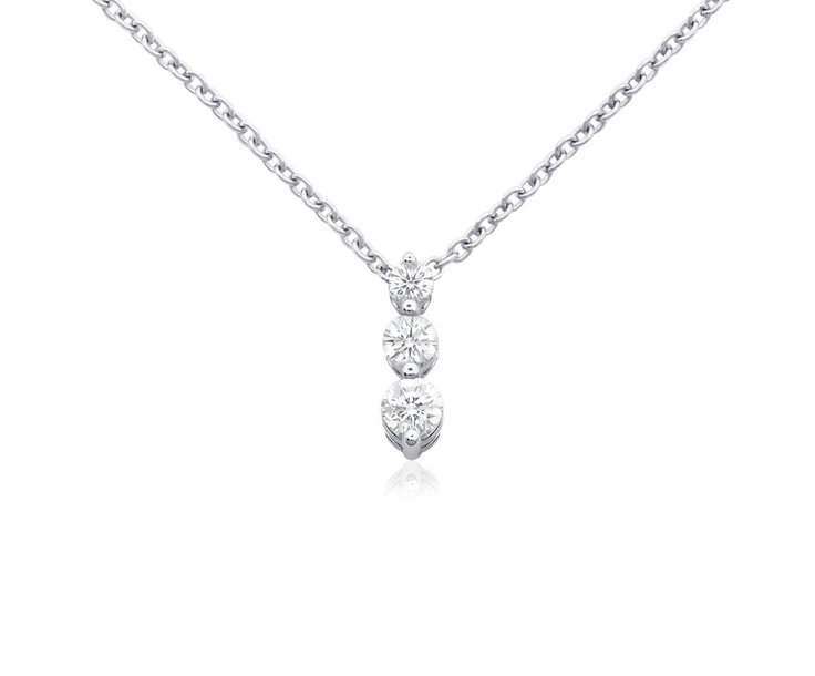 93 best white gold drop pendant images on pinterest white gold three stone drop diamond pendant in 18k white gold bluenile aloadofball