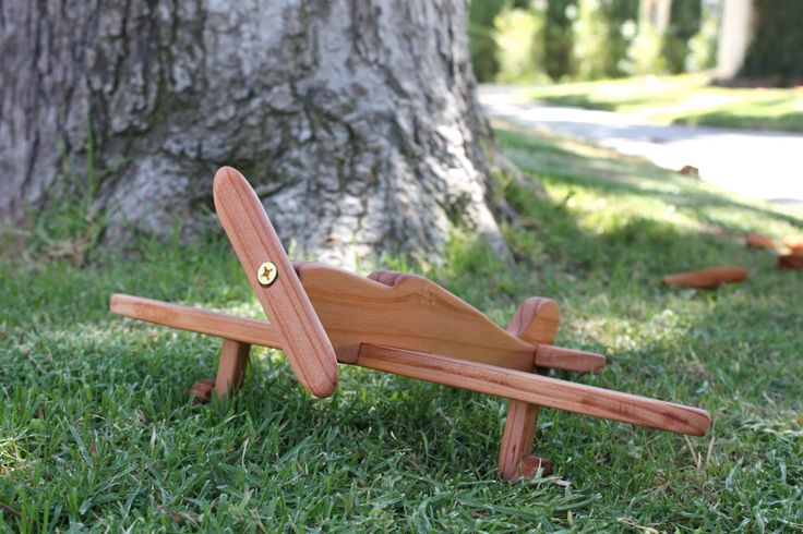 Spitfire Airplane  Handcrafted Wooden Toy by missionbeachwoodwork, $75.00