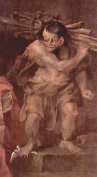 """Caliban from """"The Tempest"""" of William Shakespeare - William Hogarth"""