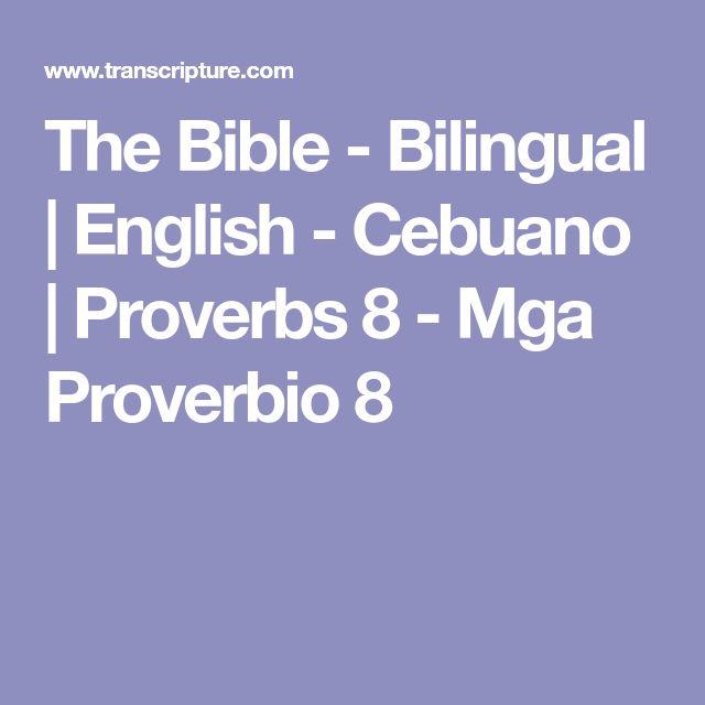 The Bible - Bilingual | English - Cebuano | Proverbs 8 - Mga Proverbio 8