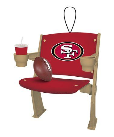 Look at this #zulilyfind! San Francisco 49ers Stadium Chair Ornament #zulilyfinds