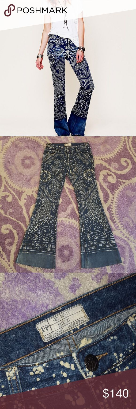 Free People Bali flare jeans Like new authentic Bali flare jeans, gentle stretch low rise denim. Only worn once for a couple hours, never been thru washer or dryer, smoke free home. I truly love these gorgeous, rare jeans but I never wear them. (First pic is stock photo)  Price negotiable thru offer button only Free People Jeans Flare & Wide Leg