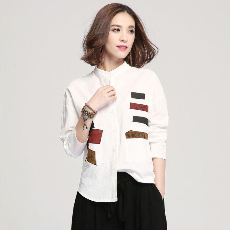 Модная лоскутная рубашка со стоячим воротником. Длинный  рукав, материал хлопок 3 цвет.