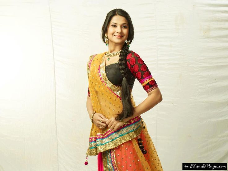 Get Inspired By Jennifer Winget On TV Show Saraswatichandra.  One of the famous TV show Saraswatichandra by Sanjay Leela Bhansali on star TV channel has also portrayed Jennifer Winget in Kutch embroidery dress.