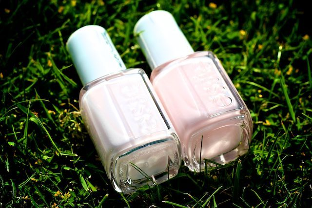 "The ""Madison Avenue"" chic manicure effect created when combining Essie Mademoiselle and Essie Ballet Slippers."
