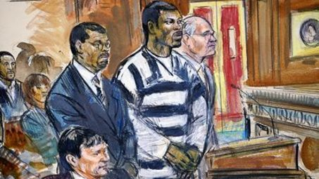 This Courtroom Sketch is falls under the topic Information Graphics. Cameras aren't allowed in courtrooms, therefore media relies on artists for illustrations that take up only minutes to do.  Info on Courtroom Sketches: http://en.wikipedia.org/wiki/Courtroom_sketch