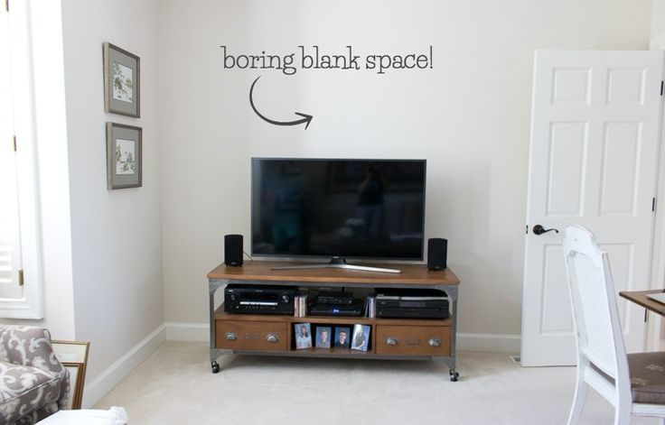 Adding A Shelf Above The Tv A Simple Decorating Solution Driven By Decor Wall Decor Above Tv Decor Above Tv Tv Wall Decor