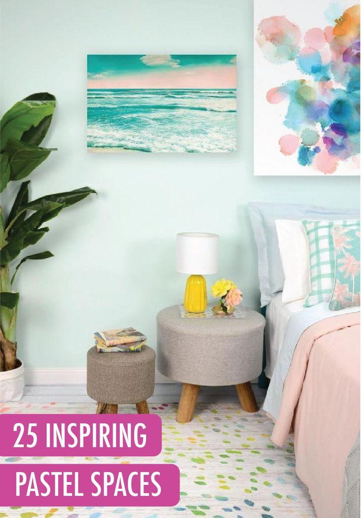 75 best images about pastel decor inspiration on pinterest for Bedroom inspiration pastel