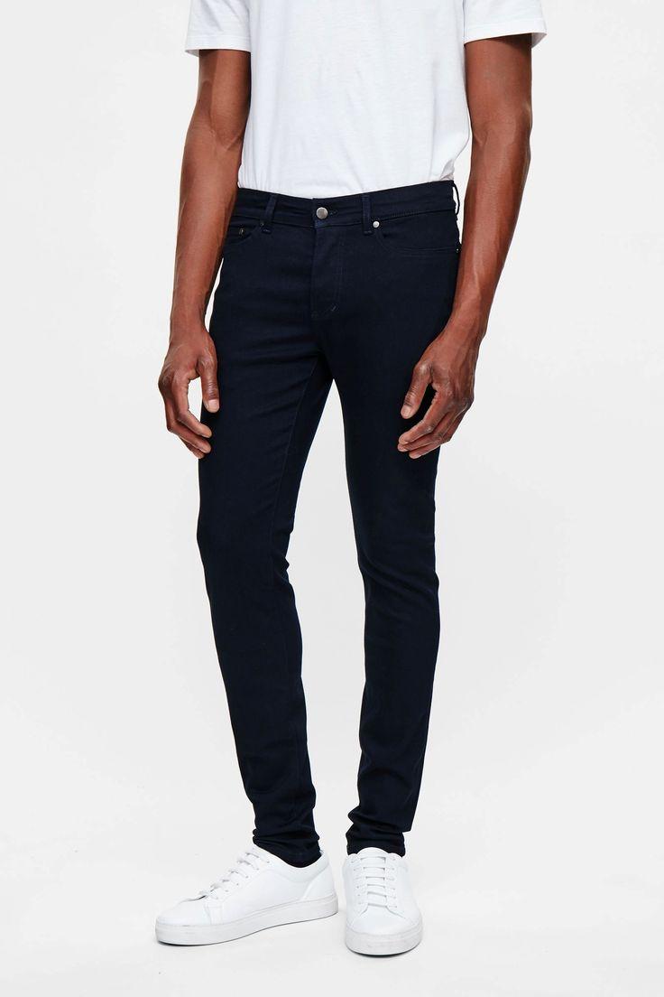 COS image 2 of Skinny-fit denim in Blue Black