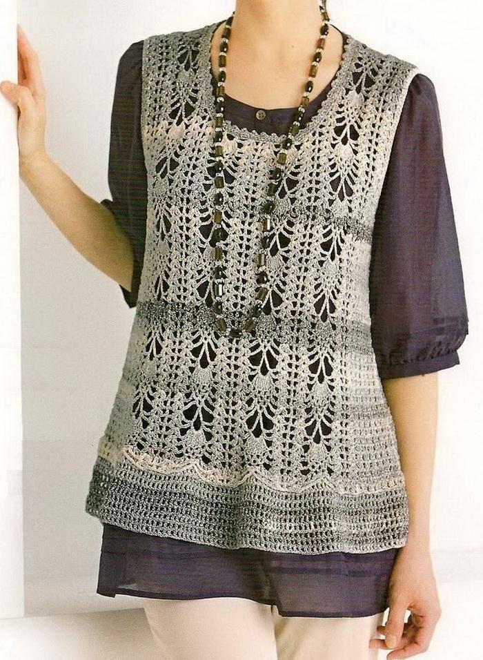 Crochet Sweater: Crochet Tunic For Women - Free Crochet Pattern