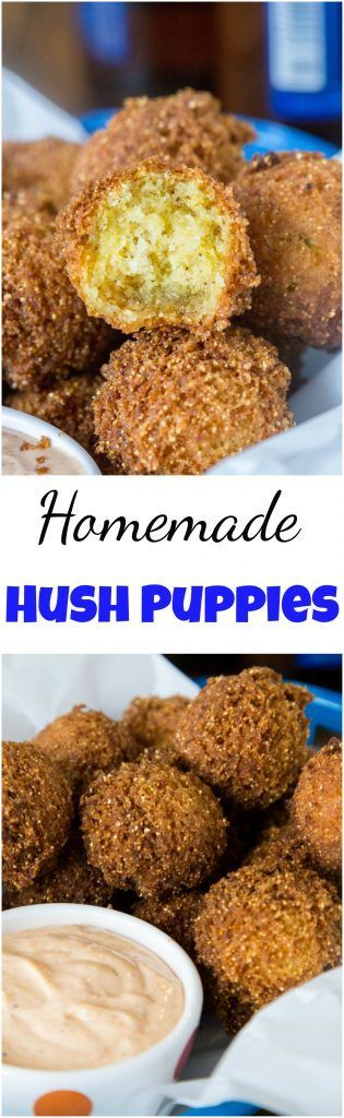 Homemade Hush Puppies Recipe - the lightest and fluffiest hushpuppies ever. So easy to make, delicious, crispy and great for game day, snacks, or even a side dish with dinner. #hushpuppies #deepfry #gameday #snacks #footballfood #eats #recipe #friedfood #appetizer