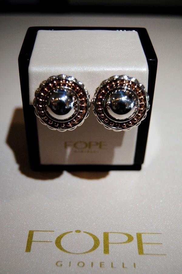 18K rose gold & Palladium Twin Star Fope earrings