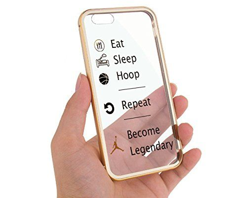 "Apple iPhone 6 4.7"" Champagne Gold Eat Sleep Basketball Hoop Baller Quote Aluminum Bumper Cases for Girls Teens Cover Skin Mobile Phone Accessory MonoThings http://www.amazon.com/dp/B00WTLFMH4/ref=cm_sw_r_pi_dp_q7pJvb0JPQPC5"