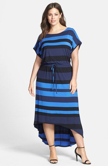 Caslon® High/Low Maxi Dress (Plus Size) available at #Nordstrom