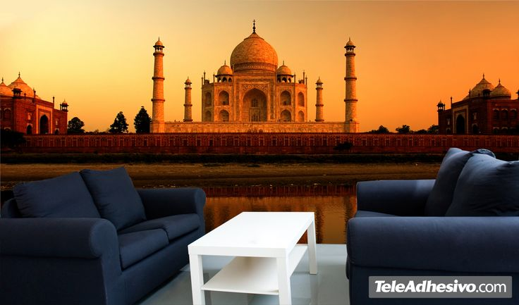 Fotomurales Taj Mahal. Ideas decoración academia de hindi #decoración #academia #hindi #ideas #vinilo #TeleAdhesivo
