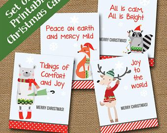 Printable christmas cards | Etsy – CARDS IDEAS