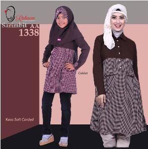 Baju Sarimbit  Ibu & Anak Rahnem AT-1338 Coklat