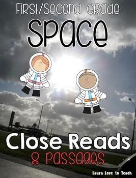 First and Second Grade Close Reading - All About Space