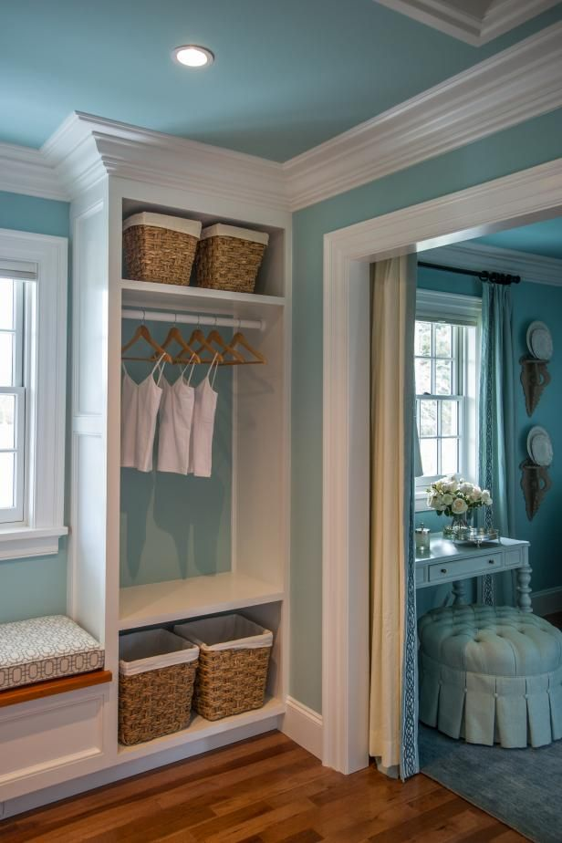 An adjoined dressing room is easily accessible from the HGTV Dream Home 2015 master closet.