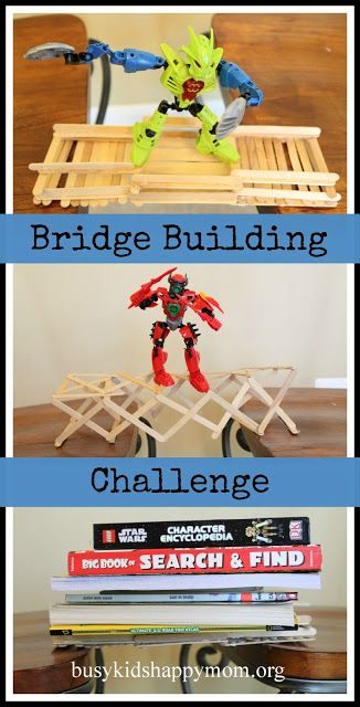 Unplugged Play: Build-a-Bridge Challenge from busykidshappymom.org Do your kids enjoy engineering challenges?