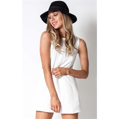 This Taylor #WhiteMiniDress By Showpo is absolutely stunning