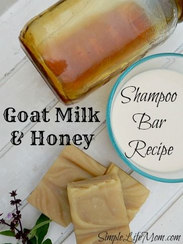 Goat Milk and Honey Shampoo Bar Soap Recipe by Simple Life Mom