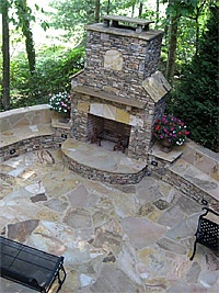 Stone Fireplaces Outdoor Fireplaces Firepits Tampa