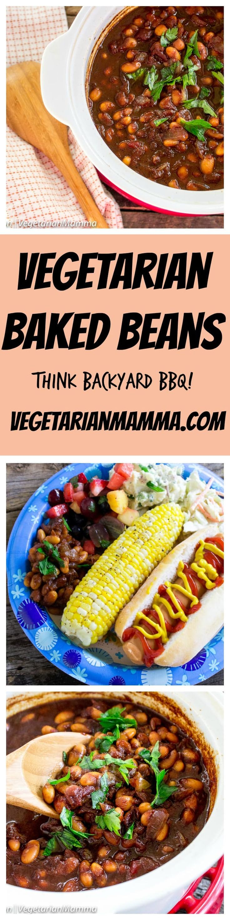Did somebody say Vegetarian Baked Beans? Looking for the ultimate addition to your backyard BBQ menu? Beans are a MUST for your BBQ plate!  @DixieProduct ad #NeverDoDishes  #NoDirtyDishesDay