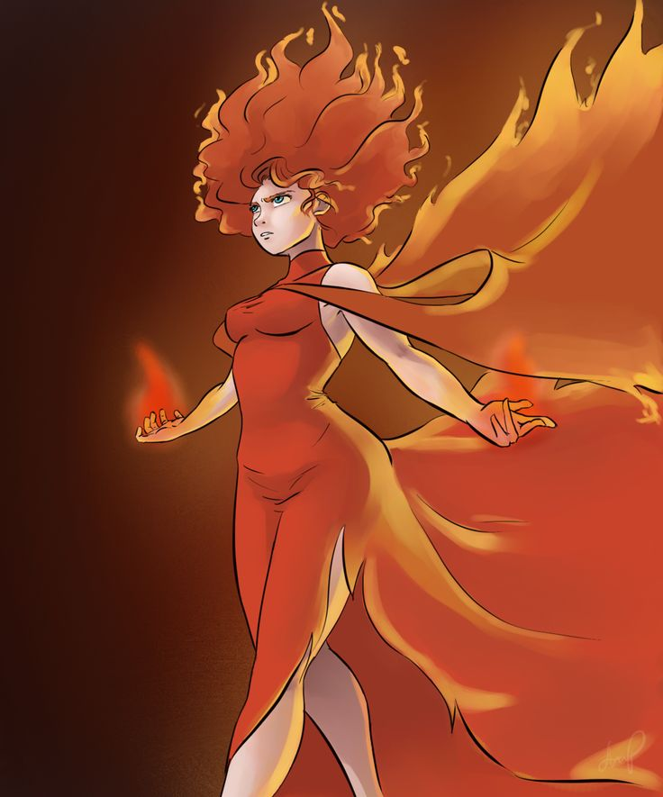Beware the fire wielder by on - Anime girls with fire ...