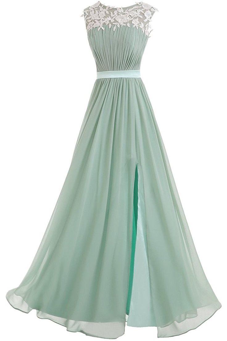 Victory Bridal Elegant Spitze Damen Lang Abendkleider Festliche Partykleider Ballkleider Neu 2015-32 Blau