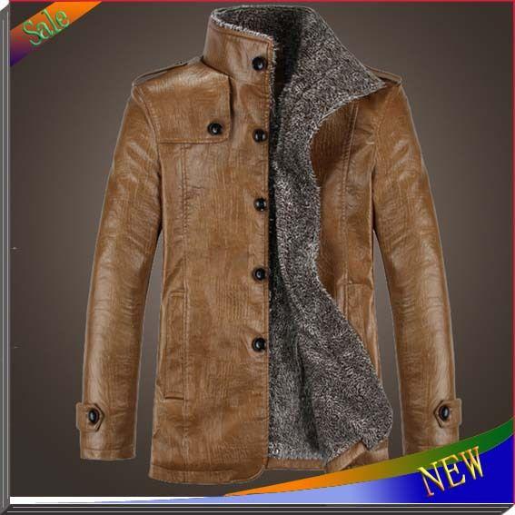 Новый бренд мужская куртка свободного покроя осень зима кожа зимнее пальто водонепроницаемый на открытом воздухе кожаные пальто мех мужчины пальто