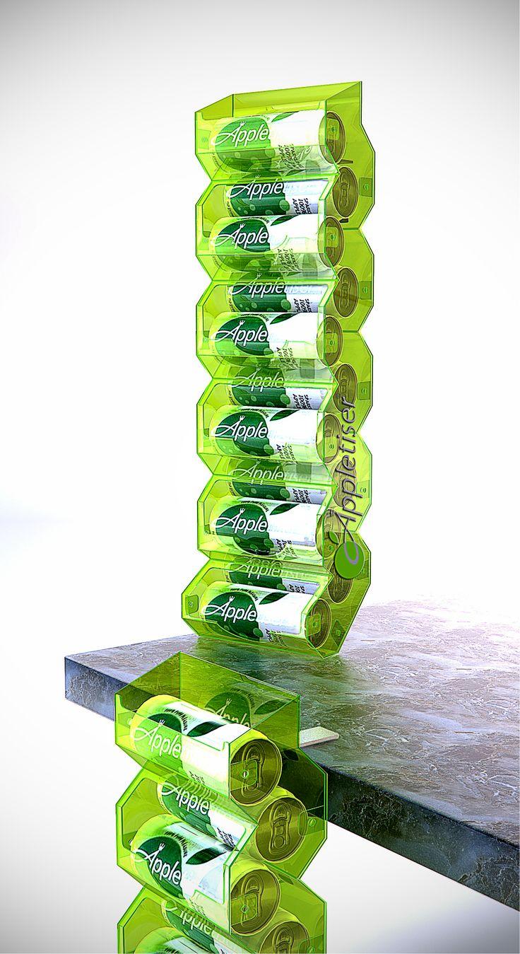 Appletiser, Parasite unit, Concept, POS, POP. Point of sale. Point of purchase. Designed by Lance Eggersglusz.