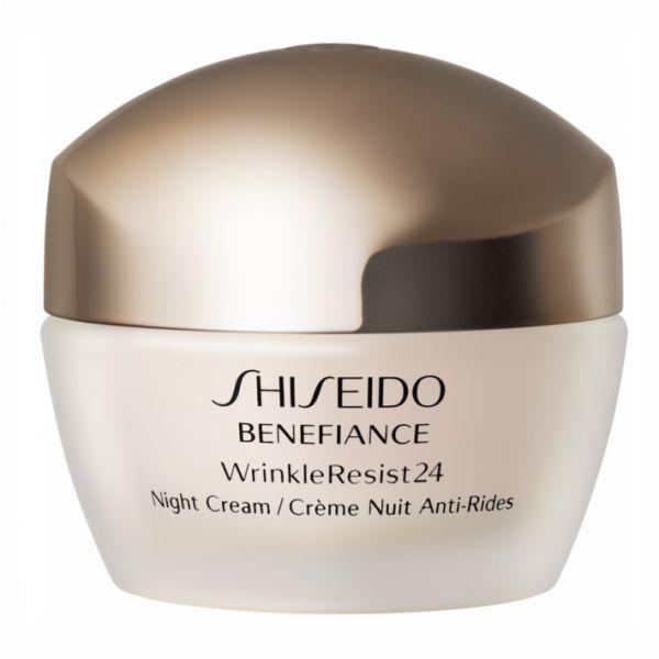 SHISEIDO Benefiance Wrinkle Resist 24 Night Creme 50ml (Κρέμα Προσώπου Νυκτός) που καταπολεμά τα σημάδια της γήρανσης αποτρέποντας την επιδείνωση των λεπτών γραμμών και των ρυτίδων. Αποκτήστε την με έκπτωση από 109,80€ μόνο με 76,00€! #aromania #Shiseido #BenefianceWrinkleResist