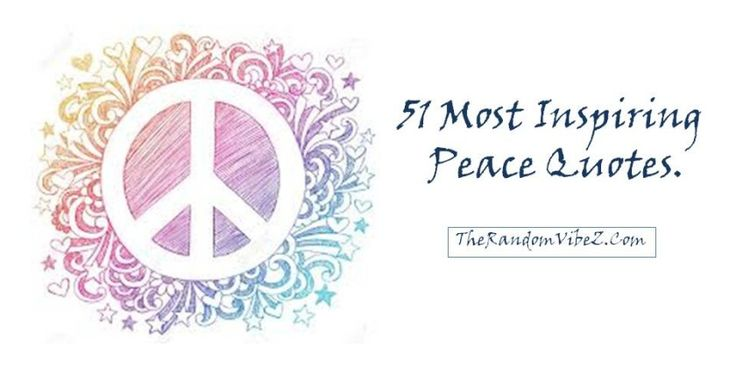 peace and love to everyone that you meet