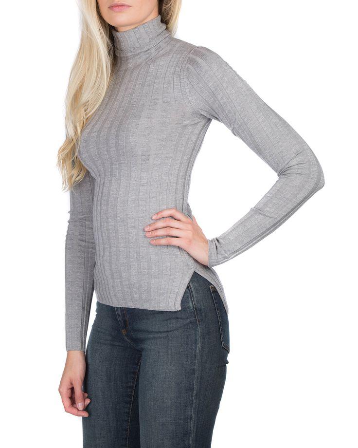 Acne Studios Corina Merino Silver Grey Polotröjor | Märkeskläder på Zoovillage.com