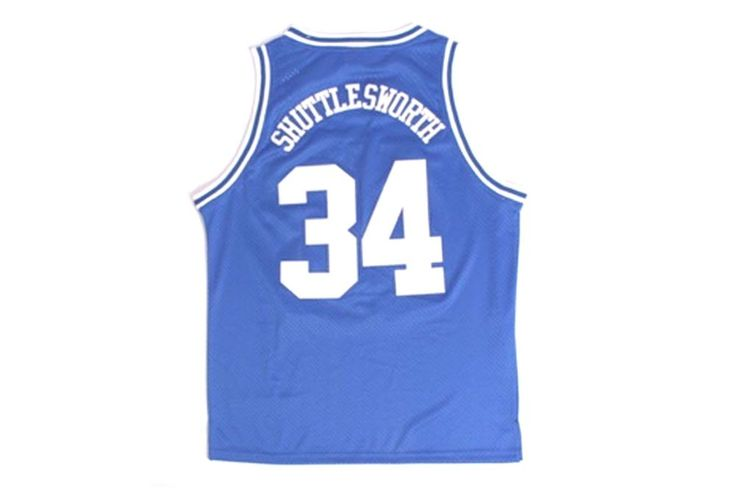 Item -Jesus Shuttlesworth Jersey Color - Blue Movie Name - He Got Game Ray Allen Lincoln 34 Sport- Basketball