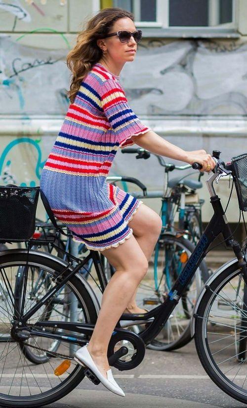 In Berlin in a Céline dress and Nicholas Kirkwood flats.
