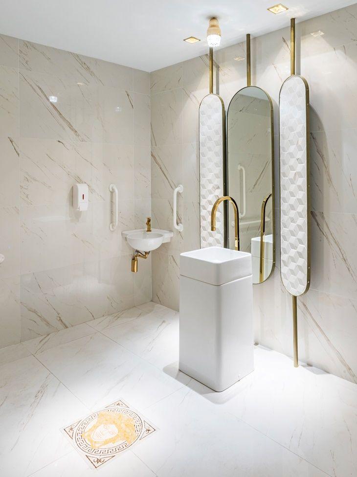 308 best Bathroom public images on Pinterest Bathrooms, Restroom - keramik waschbecken küche