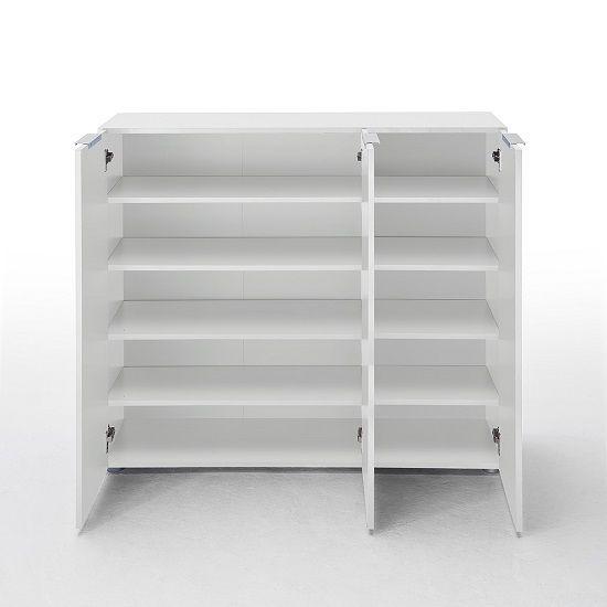 Genie Hallway Furniture Set 4 In White High Gloss And Wenge