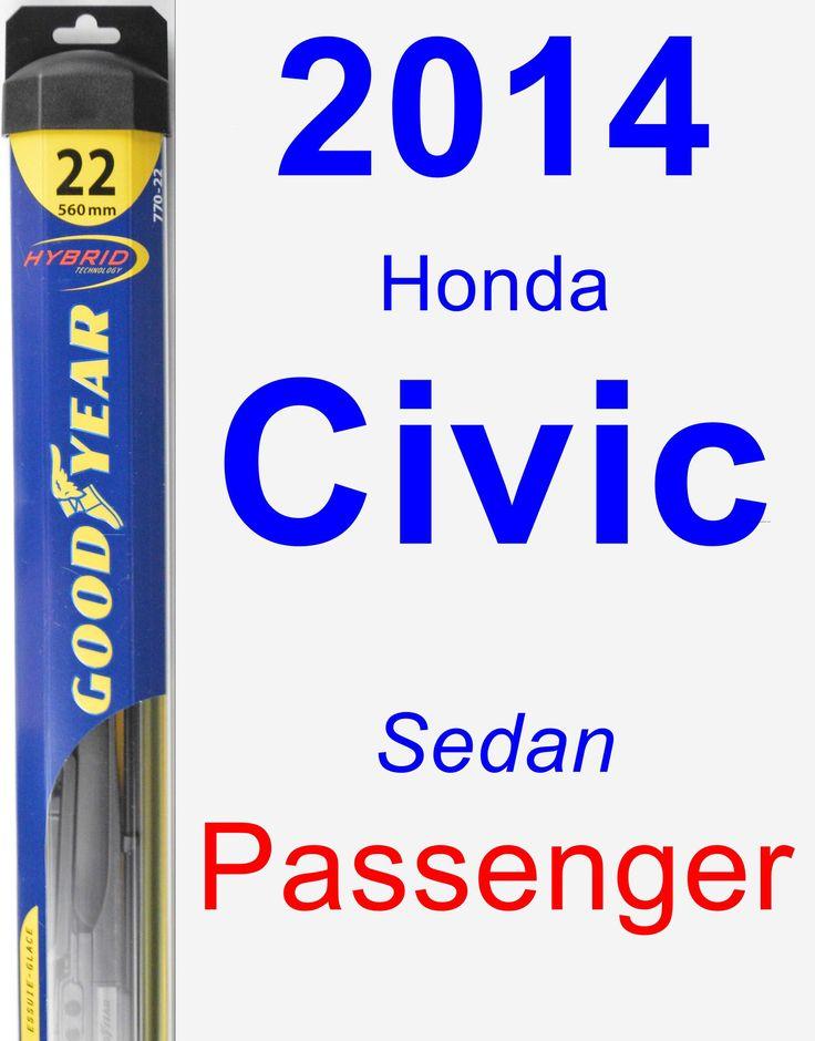 Passenger Wiper Blade for 2014 Honda Civic - Hybrid