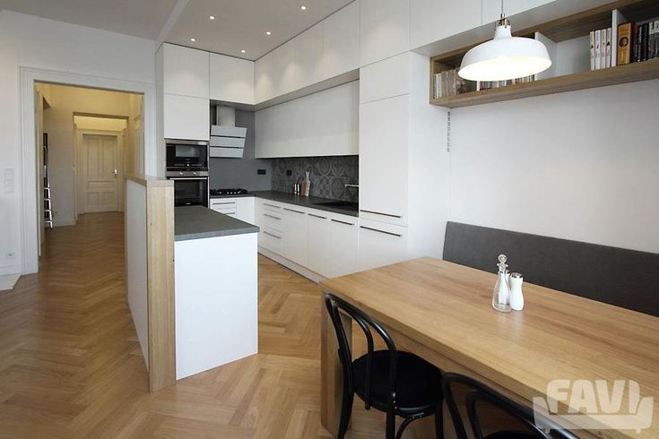 Moderní kuchyně inspirace - Rekonstrukce bytu, Vršovice - Favi.cz