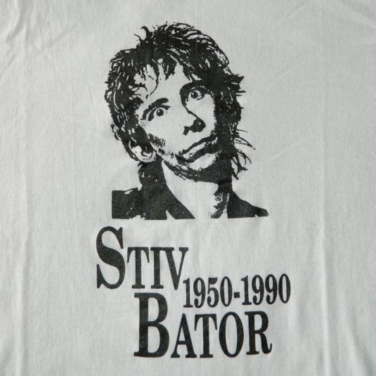 Vintage STIV BATORS T-Shirt THE DEAD BOYS