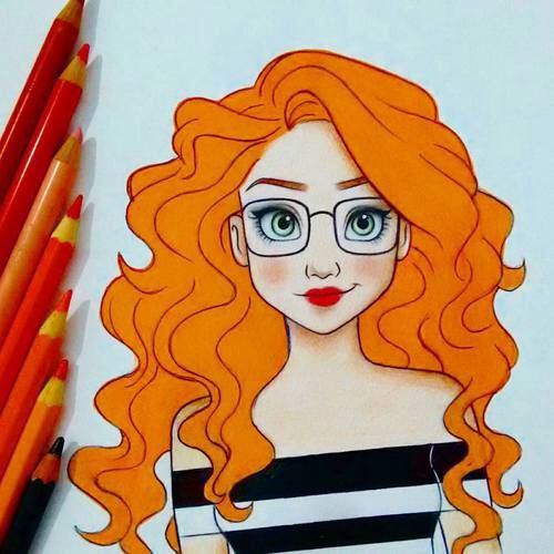 female Animated avatars redhead