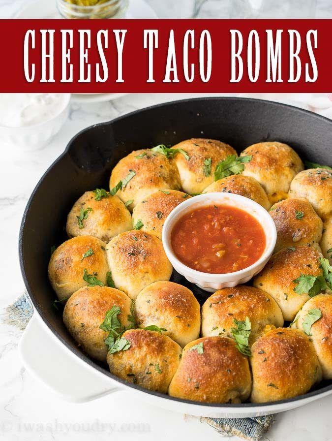 Cheesy Taco Bombs Skillet