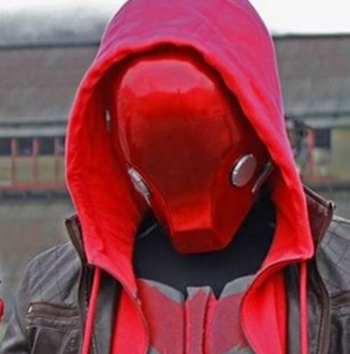 Red hood helmet costume