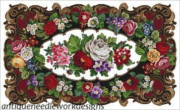 Gallery.ru / Фото #1 - 1900 antique floral tapestry - Aysegul