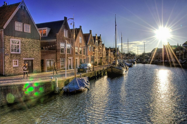 The life in Monnickendam, Netherlands