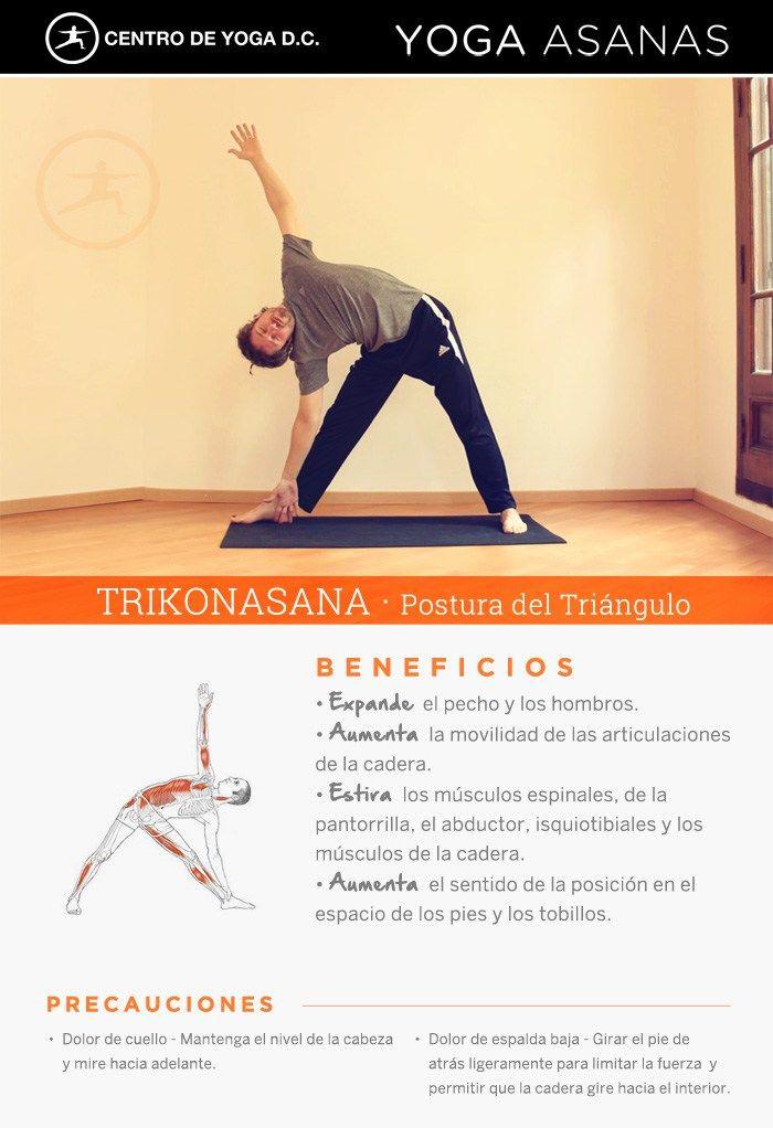 Beneficios de la práctica de Yoga · TRIKONASANA, postura del triángulo, por Diego Cano.